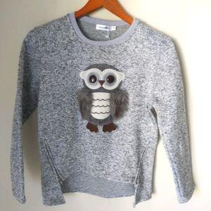 Aurora Baby fleece owl sweatshirt Size 12-14